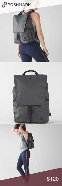 Lululemon Urbanite Backpack Worn ONCE, excellent condition, Like new - without tags, selling from my personal closet Lululemon Urbanite Backpack colors gray and black.  This backpack was designed for the urban adventurer. Fabric is water-repellent, durable, and easy to wipe clean  No trades  Happy Poshing! lululemon athletica Bags Backpacks