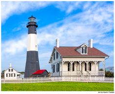 Tybee Lighthouse at Dawn Georgia Art Print by Mark E Tisdale