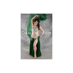 FORTUNE FAME II Bra and Belt Set in Silver in a Bra Size F/G #9, by... ❤ liked on Polyvore featuring costumes, belly dancer halloween costume, belly dance costume, tribal costume, tribal belly dance costume and green costume
