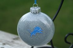 Silver Detroit Lions College/Team Glass by KaLiHandcrafted on Etsy