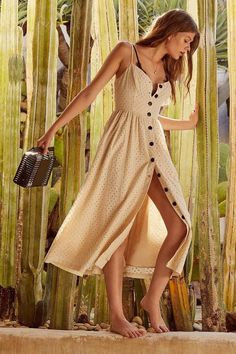 Urban Outfitters UO Abbie Eyelet Button-Down Dress