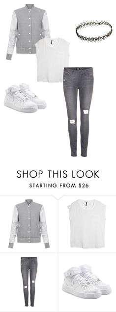 """Untitled #109"" by minkymeme ❤ liked on Polyvore featuring Elizabeth and James, MANGO, Paige Denim and NIKE"