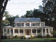 I love houses with wrap-around porches and this one I fell in love with!