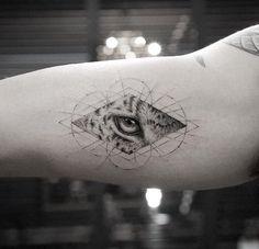 Wild cat, cheetah, leopard tattoo