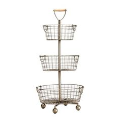 SL Tiered Wire Basket   European-Inspired Home Furnishings   Ballard Designs