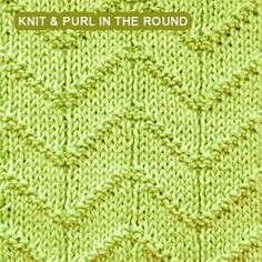 Intermediate Knitting Combining Knit And Purl Stitches : Zigzag seed stitch, so cool! Created by just using knit and purl stitches K...