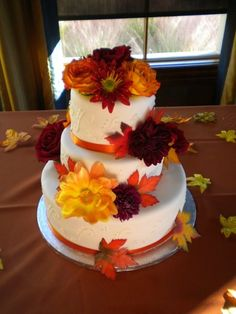 Fall wedding cake!