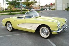 trendy vintage cars convertible chevrolet corvette - My list of the best classic cars Chevrolet Corvette C1, 1958 Corvette, Chevy, Pontiac Gto, Us Cars, Sport Cars, Vintage Cars, Antique Cars, Classic Corvette