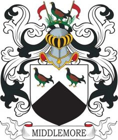 Middlemore Family Crest and Coat of Arms