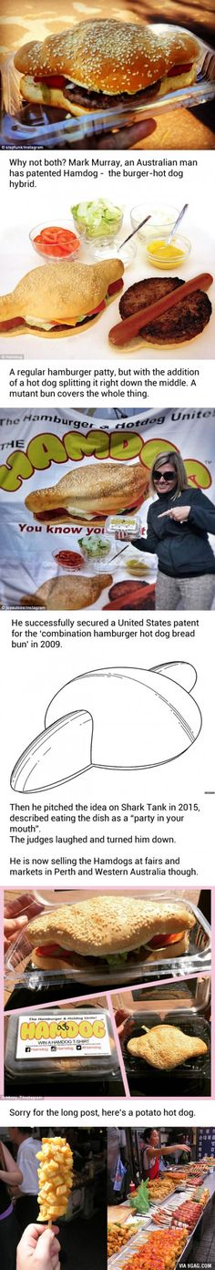 "Australian Man Proves That Dreams Can Come True After He Patents The ""Hamdog"""