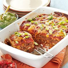 Pan Burritos Recipe -Our family loves Mexican food, so this flavorful, satisfying casserole is a favorite. It's nice to be able to get the taste of burritos and cut any serving size you want. —Joyce Kent, Grand Rapids, Michigan
