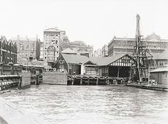 Wharf at Circular Quay,Sydney under construction. Sydney City, The Rocks Sydney, Australian Photography, Australian Continent, History Photos, Historical Architecture, Historical Pictures, Sydney Australia
