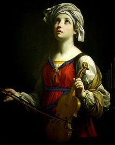 santa cecilia con el violín
