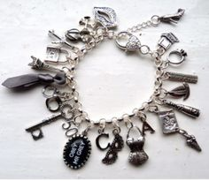 Gifts for Her:  50 Shades of Grey Charm Bracelet @ Etsy