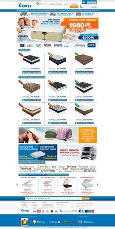 Criação de Interface com usabilidade para página virtual no ano de 2012 para o E-commerce Center Colchões.