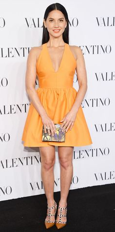 Look of the Day - December 11, 2014 - Olivia Munn in Valentino from #InStyle