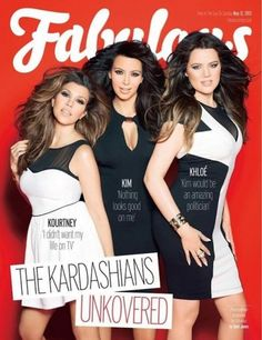 Snapshot: Kim, Khloe, and Kourtney Kardashian by Katy Jones for Fabulous May 2013 - The Fashion Bomb Blog : Celebrity Fashion, Fashion News, What To Wear, Runway Show Reviews