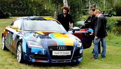 Audi TT Artcar by Everett Duarte Audi Tt, Artist, Painting, Abstract Pictures, Painting Art, Paintings, Painted Canvas, Drawings, Artists
