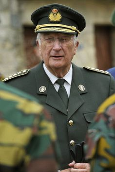 King Albert II during his visit to the military camp of Arlon on 11 Oct 2012 in Arlon Belgium.