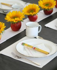 Back to school place setting. Perfect for older kids.