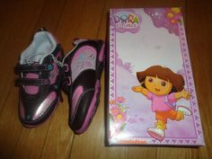 New Girls Dora The Explorer Velcro Sneakers size 12 Pink & Brown with box. Find me at www.dandeepop.com