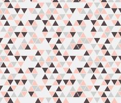 triangles, pale pink and grays fabric by trizzuto on Spoonflower - custom fabric