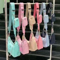 Trendy Purses, Cute Purses, Luxury Purses, Luxury Bags, Aesthetic Bags, Nylon Bag, Cute Bags, Vintage Bags, Prada Bag