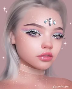 Drawing of ___________________________________________ Estimated tim Digital Art Girl, Digital Portrait, Portrait Art, Christina Lorre Drawings, Sarra Art, Beautiful Fantasy Art, Illustrators On Instagram, Art Reference Poses, Pretty Art