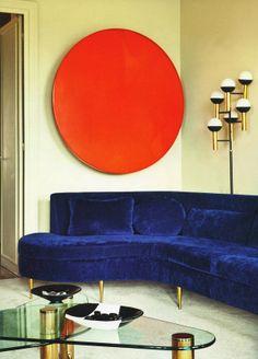 That blue velvet couch!! <3