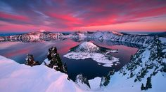 Crater Lake, Oregon | The following photo is of Crater Lake National Park located in the ...