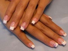 Typical French manicure for wedding occasions