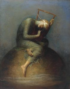 Hope (1886), oil on canvas, Tate Britain, London| artwork by George Frederic Watts and assistants