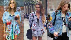 Imagem relacionada Look Patches, Kimono Top, Blouse, Julia, Women, Fashion, Jean Jacket Hoodie, Tumblr Outfits, Tutorials