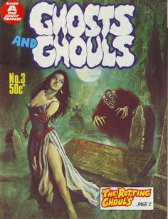 Cover for Ghosts and Ghouls (Gredown, 1970 ? Scary Comics, Sci Fi Comics, Horror Comics, Horror Art, Comic Book Covers, Comic Books Art, Comic Art, Sexy Horror, Ghost And Ghouls