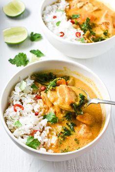 Crock Pot Thai Chicken Curry | theendlessmeal.com |