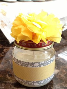 :: DIY Baby Food Jar Soy Candle Favors :: - What's On My Mind Grapes?