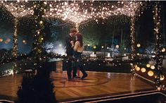 The Twilight Prom: Gazebo decorated with greens & fairy lights