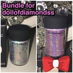 Bundle for dollofdiamondss Brand new in box Mac 3D silver glitter and 3D pink glitter MAC Cosmetics Makeup Eyeshadow