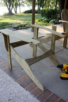 Wood Chair Plans Free - Wood Chair Plans Free, Plans for Wooden Outdoor Chairs Quick Woodworking Projects Adirondack Rocking Chair, Rocking Chair Plans, Adirondack Chair Plans Free, Wooden Adirondack Chairs, Adirondack Furniture, Diy Outdoor Furniture, Rustic Furniture, Outdoor Chairs, Funky Furniture