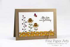 Stampin up - Sale-A-Bration 2016, Flowering Fields, Partyballons, Birthday card, Geburtstagskarte - Fine Paper Arts