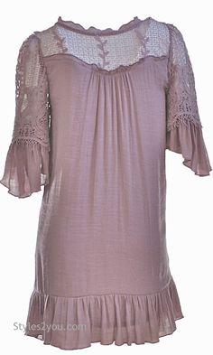 Altalune Shirt Dress In Mauve