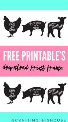 Free Farmhouse Printable Signs - Crafting this House Graphics Fairy, Free Graphics, Farmhouse Design, Farmhouse Decor, Farmhouse Ideas, Farmhouse Style, Printable Art, Free Printables, Dixie Belle Paint
