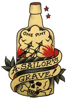 Sailor Jerry, Vintage, Tattoo, Aloha, A sailors Ruin, Ship in Bottle, T Shirt