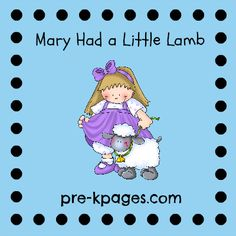 Mary Had A Little Lamb Color Words Sheet