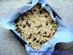 No Bake Granola Bars- Low sugar, #glutenfree, high #protein and portable- no refrigeration needed!