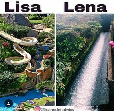 Water paradise: Lisa or Lena? I would choose Lisa. Lisa Or Lena, Lisa Lisa, Jolie Photo, Tumblr Wallpaper, Thats Not My, Waterfall, Photos, Lens, Jordan Outfits