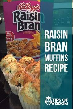 Easy DIY breakfast cereal muffins with Raisin Bran. Easy DIY breakfast cereal muffins with Raisin Bran. Raisen Bran Muffins, Raisin Muffins, Bran Muffins With Raisins, Blueberries Muffins, Raisin Bran Cereal Muffin Recipe, Blueberry Bran Muffins, Rhubarb Muffins, Healthy Breakfast Muffins, Healthy Muffin Recipes