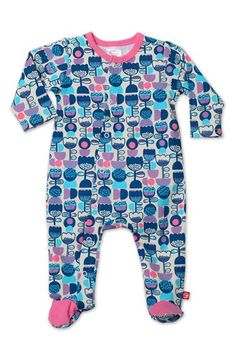 Zutano'Tulipe' Cotton One-Piece (Baby Girls) available at #Nordstrom
