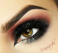 smokey bordeaux eyeshadow #eye #makeup #eyeshadow #dark #smokey #dramatic