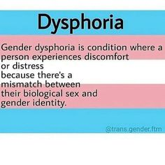 Me: dysphoria is the worst ugh. Cis person: omg yeah I know right? I have that all the time. Me: .... ✋stop ~Ashley